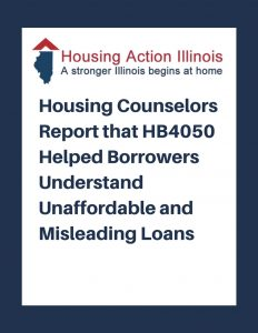 Housing Counselors Report on HB4050