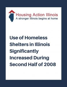 Use of Homeless Shelters in Illinois Significantly Increased in Second Half of 2008