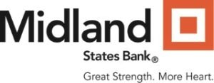 Midland States Bank & Great Strength More Heart Logo