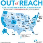 Map of 2BR Housing Wage