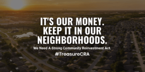 It's our money. Keep it in our neighborhoods.