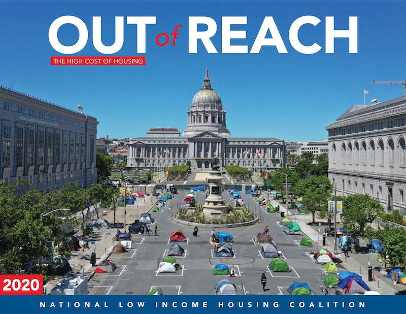 Cover of 2020 Out of Reach report