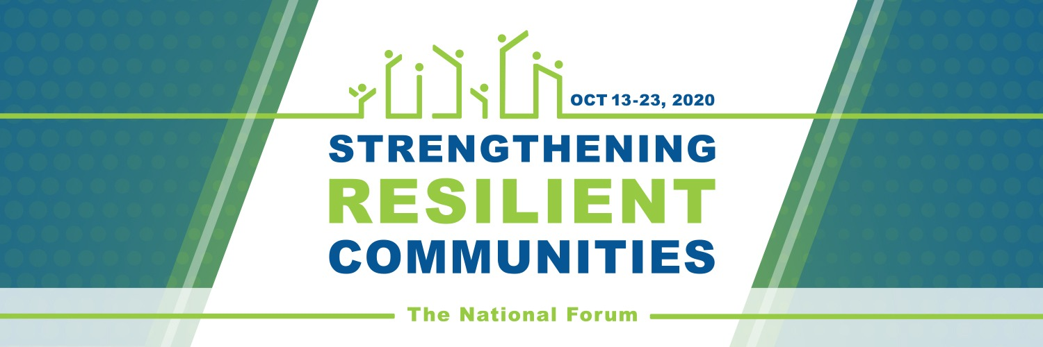 """""""Strengthening Resilient Communities"""" 2020 Conference Banner"""