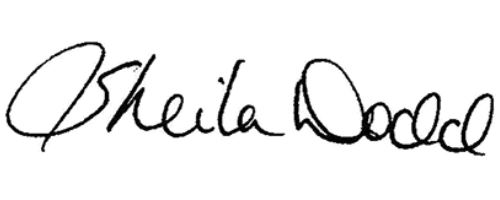 Signature for Sheila Dodd