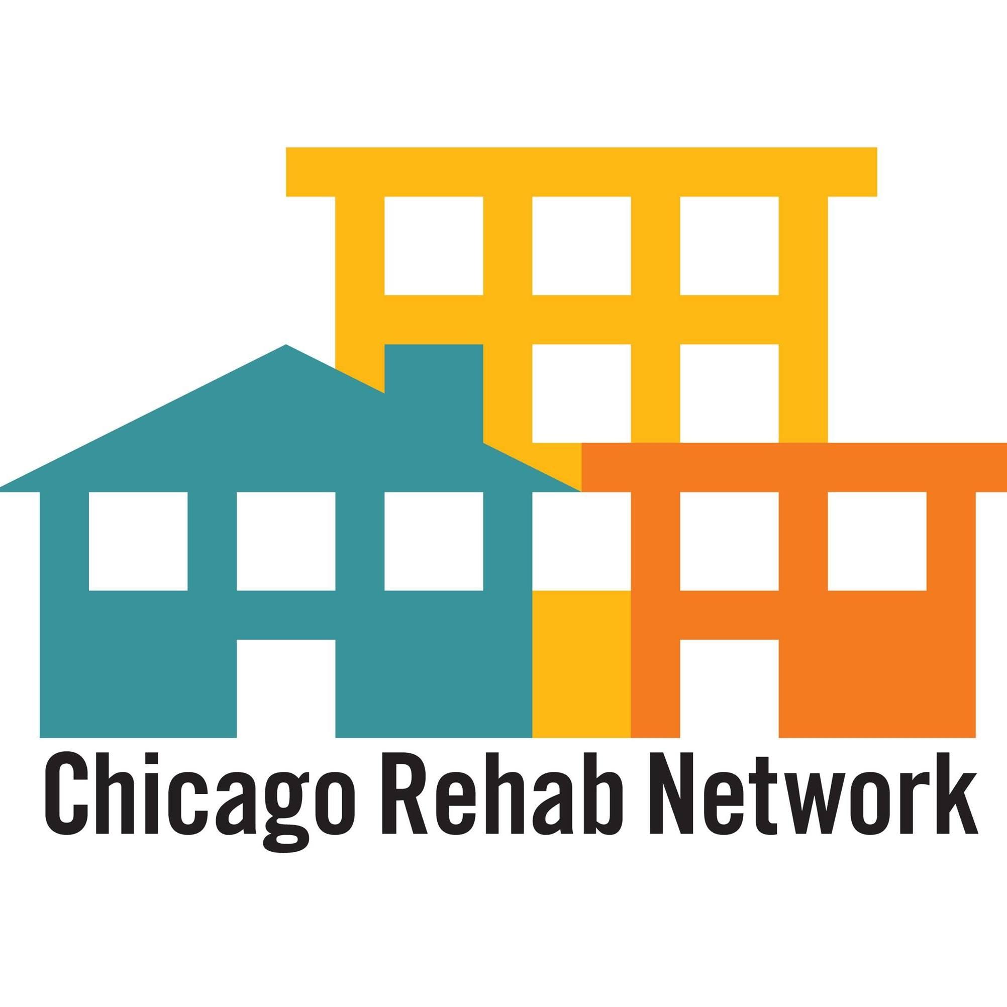Chicago Rehab Network logo- 3 small houses